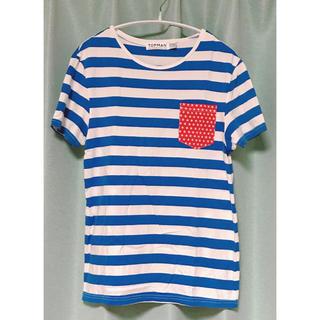 トップマン(TOPMAN)のボーダーTシャツ TOPMAN ボーダー 胸ポケット(Tシャツ/カットソー(七分/長袖))