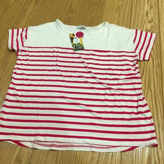 シマムラ(しまむら)の新品★ボーダー柄カットソーLL(Tシャツ(半袖/袖なし))