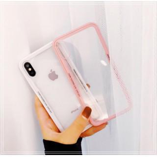 【新品未使用☆】アイフォンケース 韓国 シンプル サイドカラー 韓国で人気♪(iPhoneケース)