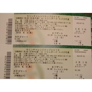 【カテ1バック1階16列】日本代表vsトリニダードトバゴ代表 6/5 2枚連番(サッカー)