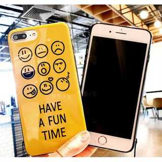 イエロー (7plus・8plus) iphoneケース tpu スマイル(iPhoneケース)