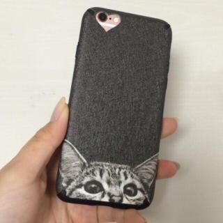 新品 iPhone6/6s*猫(背景:黒)(iPhoneケース)