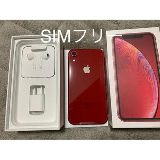 アイフォーン(iPhone)のiPhone XR 64GB RED SIMフリー 新品(スマートフォン本体)