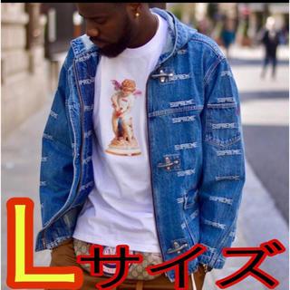 シュプリーム(Supreme)のlogo denim turnout jacket   〜Lサイズ〜(Gジャン/デニムジャケット)