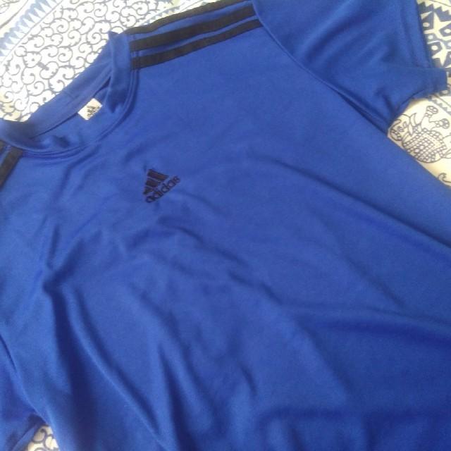 adidas 半袖 M ブルー メンズのトップス(Tシャツ/カットソー(半袖/袖なし))の商品写真