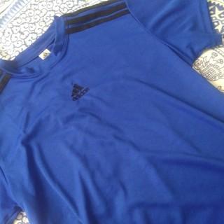 アディダス(adidas)のadidas 半袖 M ブルー(Tシャツ/カットソー(半袖/袖なし))