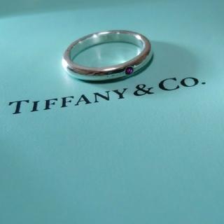 ティファニー(Tiffany & Co.)の✨美品✨ ティファニー バンドリング スタッキング ルビー ピンク(リング(指輪))