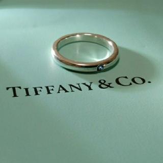 ティファニー(Tiffany & Co.)の✨美品✨ ティファニー バンドリング スタッキング サファイア ブルー(リング(指輪))