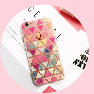iPhone6plus iPhone7/8plus パステル 三角 タイル (iPhoneケース)