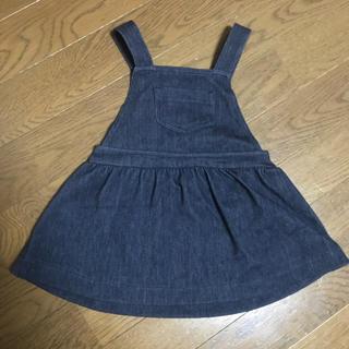 ユニクロ(UNIQLO)の未使用 UNIQLO ジャンパースカート サイズ80(ワンピース)