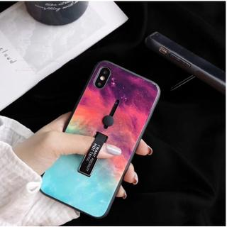 アイフォーン(iPhone)のiPhoneケースX/XS ★大理石グリーン★オシャレなアイフェイス型(iPhoneケース)