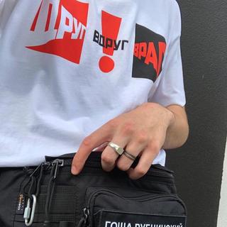 gosha rubchinskiy ゴーシャラブチンスキー Tシャツ 白(Tシャツ/カットソー(半袖/袖なし))