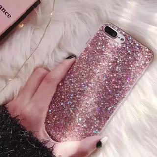 【ピンク】iPhoneX グリッター ラメ キラキラ ソフトケース(iPhoneケース)