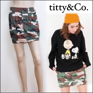 ティティアンドコー(titty&co)のtitty&co カモフラ柄 スカート♡ティティベイト セシルマクビー(ミニスカート)