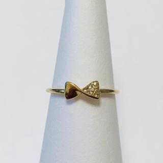 アーカー(AHKAH)の【定価4万3千円】美品 AHKAH ボウタイ リング ダイヤ 0.03ct(リング(指輪))