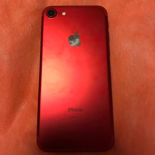 アイフォーン(iPhone)のiPhone7☆レッド☆ジャンク☆SIMフリー(スマートフォン本体)