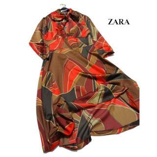 ザラ(ZARA)の◆ZARA BASIC/ザラベーシック◆ S位 レトロモダンなサテンワンピース (ひざ丈ワンピース)