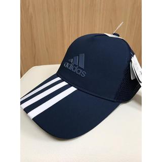 アディダス(adidas)のadidas アディダス キャップ タグ付き 帽子 Mサイズ ネイビー(キャップ)
