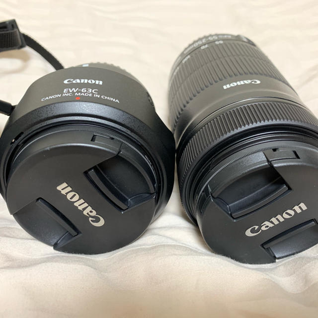 Canon(キヤノン)のcanon eos kiss x9 ダブルズームキット+24mm単焦点レンズ スマホ/家電/カメラのカメラ(デジタル一眼)の商品写真