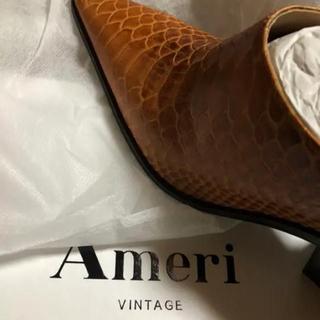 アメリヴィンテージ(Ameri VINTAGE)のAMERI アメリヴィンテージ ARCHITECTURE BOOTEE(ハイヒール/パンプス)