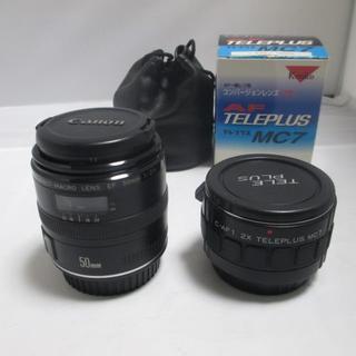 キヤノン(Canon)のCANON COMPACT-MACRO EF 50mm 1:2.5 MC7付き(レンズ(単焦点))