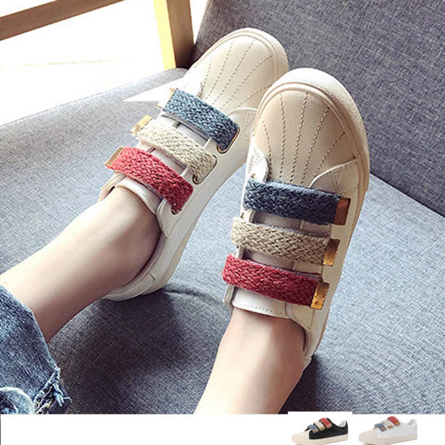 ローカットスニーカー 美脚効果 レディースの靴/シューズ(スニーカー)の商品写真