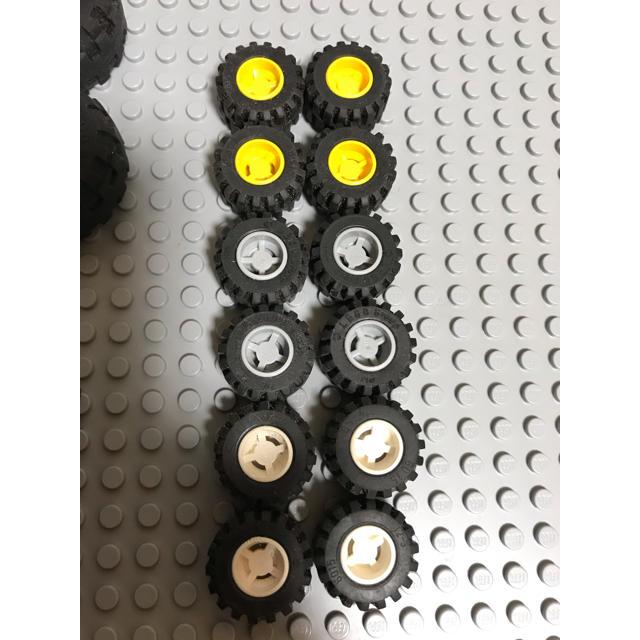 Lego(レゴ)のレゴ タイヤ 軸 セット キッズ/ベビー/マタニティのおもちゃ(知育玩具)の商品写真