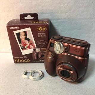 フジフイルム(富士フイルム)の富士フイルム インスタントカメラ チェキ instax mini 7S チョコ(フィルムカメラ)