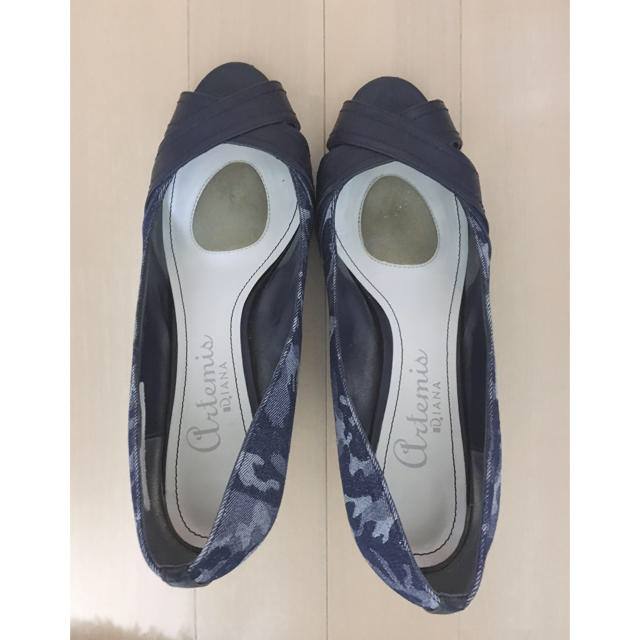 DIANA(ダイアナ)のダイアナ アルテミス 迷彩柄 オープントウ パンプス 25センチ レディースの靴/シューズ(ハイヒール/パンプス)の商品写真