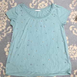 ジーユー(GU)のジーユー ビジュー トップス(Tシャツ(半袖/袖なし))