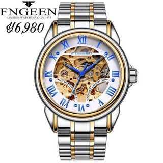 FnggenSilver-1195 腕時計 メンズ ウォッチ ブルー&シルバー(腕時計(アナログ))