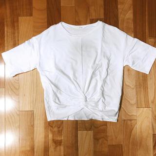 ジーユー(GU)のGU ショート丈半袖トップス(カットソー(半袖/袖なし))