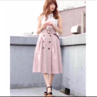 dazzlin - ダズリン トレンチスカート   ピンク