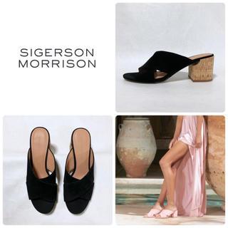 シガーソンモリソン(SIGERSON MORRISON)の■本革 定4.2万 シガーソンモリソン サンダル 8 24.5 39 ミュール(サンダル)