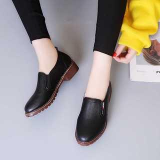 オックスフォードシューズ*シンプルデザイン*ブラック*新品(ローファー/革靴)