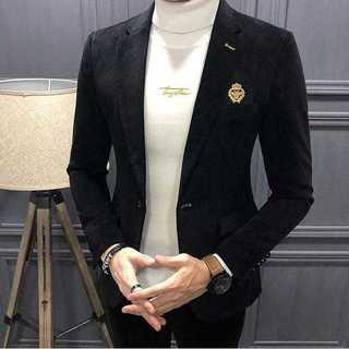 大人気エリート細身メンズ髪型師ビジネス社会人スリム紳士服セットアップ OT013(セットアップ)