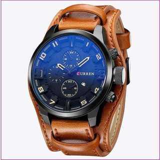 【抜群の高級感♪】革腕時計 アナログデジタル(腕時計(アナログ))