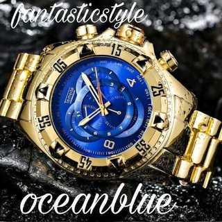 【海外限定】アクアブルータイム♪Temiete 腕時計 メンズ ウォッチ(腕時計(アナログ))