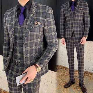 メンズスーツセットアップ大人気エリート細身ビジネス結婚式スリム紳士服 OT052(セットアップ)