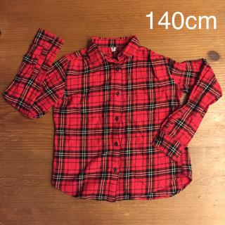 ユニクロ(UNIQLO)のUNIQLOチェックシャツ 140cm(ブラウス)