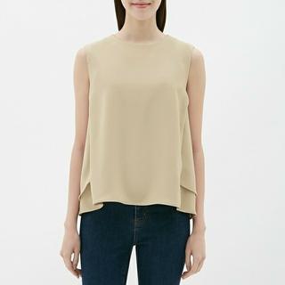 ジーユー(GU)のジーユー Aラインブブラウス(ノースリーブ) 小さいサイズ(シャツ/ブラウス(半袖/袖なし))