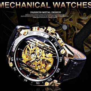 【海外限定】Forcining0820 腕時計 メンズ ウォッチ ブラック(腕時計(アナログ))