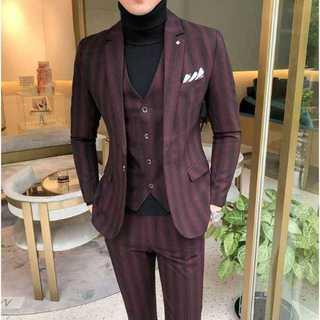 メンズスーツセットアップ大人気ホスト定番ビジネス司会者スリム紳士服 OT047(セットアップ)