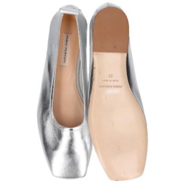 FABIO RUSCONI(ファビオルスコーニ)の【FABIO RUSCONI】スリッポン 新品 シルバー 38 レディースの靴/シューズ(ハイヒール/パンプス)の商品写真