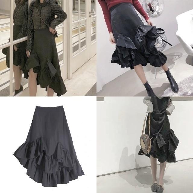 ZARA(ザラ)のFISHTALE FRILLED SKIRT. レディースのスカート(ひざ丈スカート)の商品写真