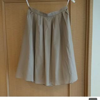 アイシービー(ICB)のiCB ベージュスカート 9号 春夏物 美品(ひざ丈スカート)