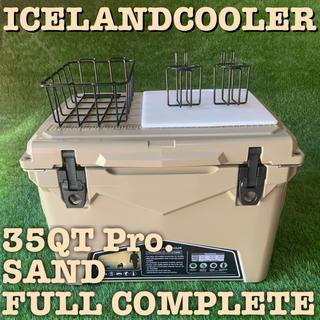 入荷‼️高性能で人気のアイスランド クーラーボックス 35QT サンド(その他)