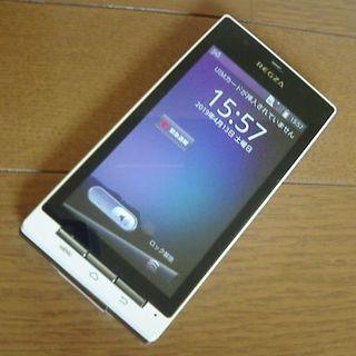 au REGZA Phone IS04 ホワイト スマホ(スマートフォン本体)