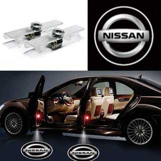 LEDドアカーテシライト NISSAN ニッサン 2個セット(車内アクセサリ)