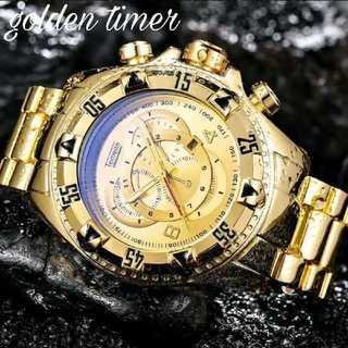 【海外限定】ゴールデンタイム♪ Temiete 腕時計 メンズ ウォッチ(腕時計(アナログ))